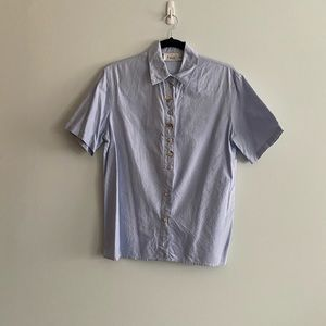 Vintage Dalia Collection Short Sleeve Button Up